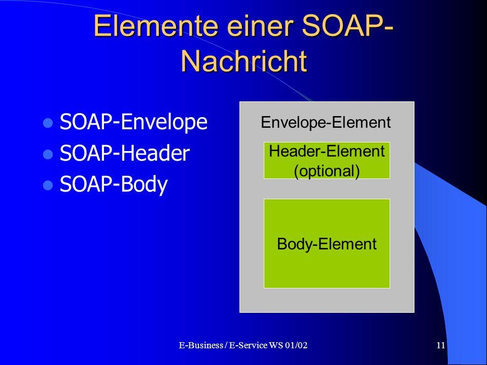 Elemente einer SOAP-Nachricht