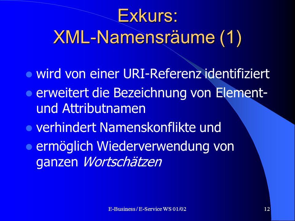 Exkurs: XML-Namensräume (1)