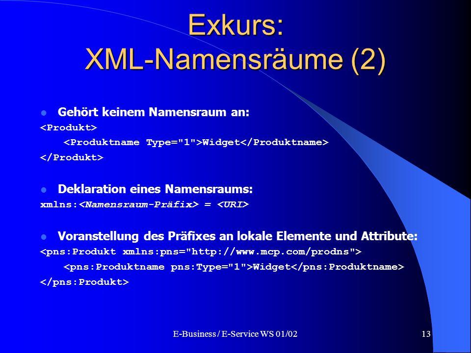 Exkurs: XML-Namensräume (2)