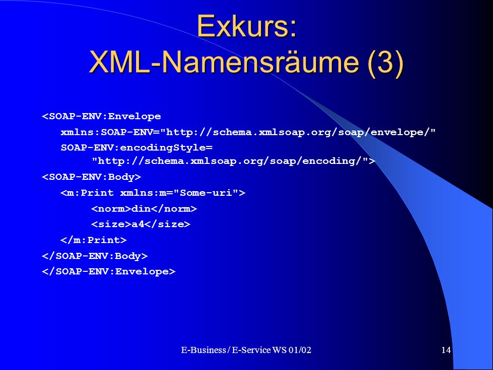 Exkurs: XML-Namensräume (3)