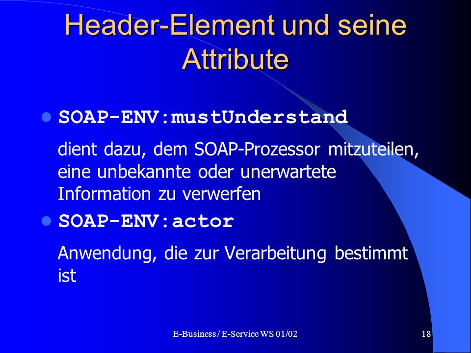 Header-Element und seine Attribute