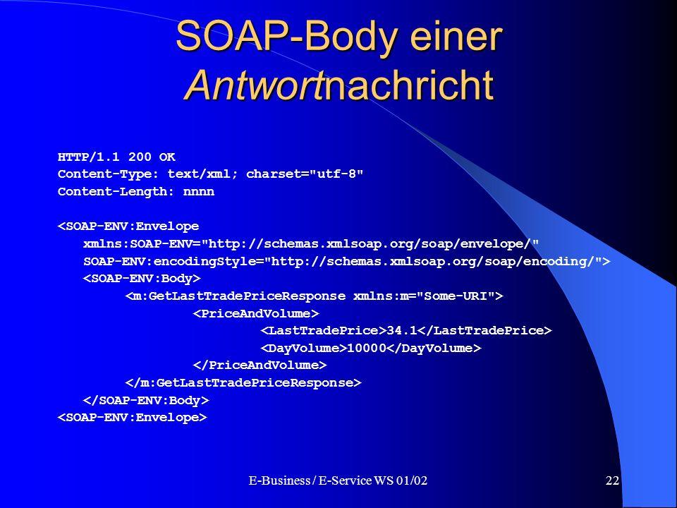 SOAP-Body einer Antwortnachricht