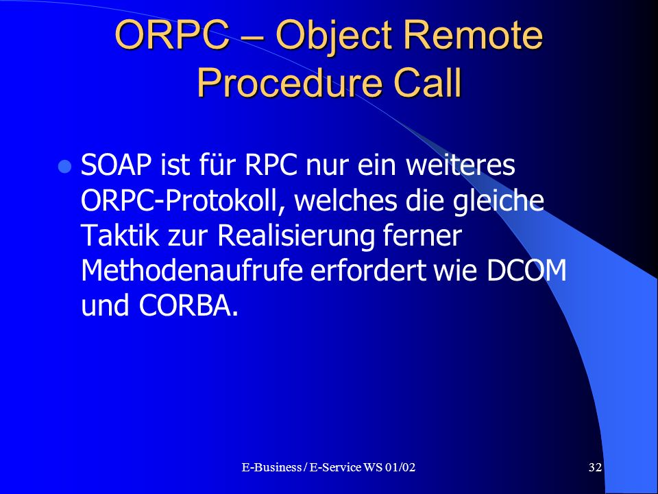 ORPC – Object Remote Procedure Call