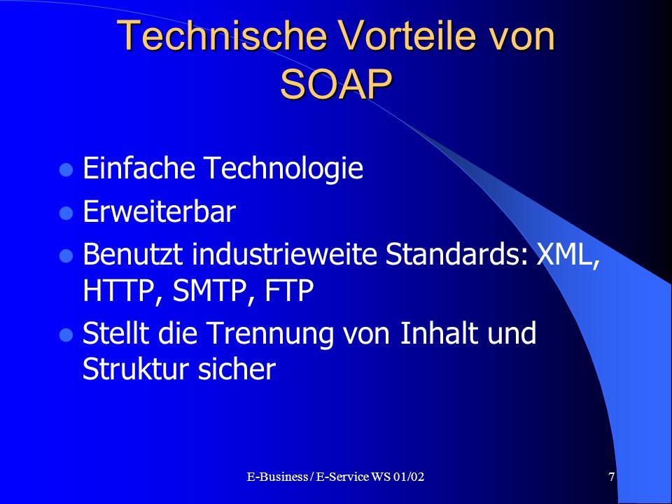 Technische Vorteile von SOAP