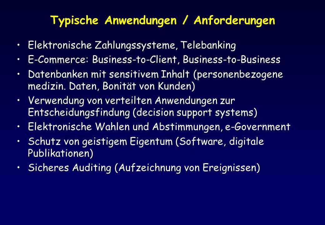 Typische Anwendungen / Anforderungen