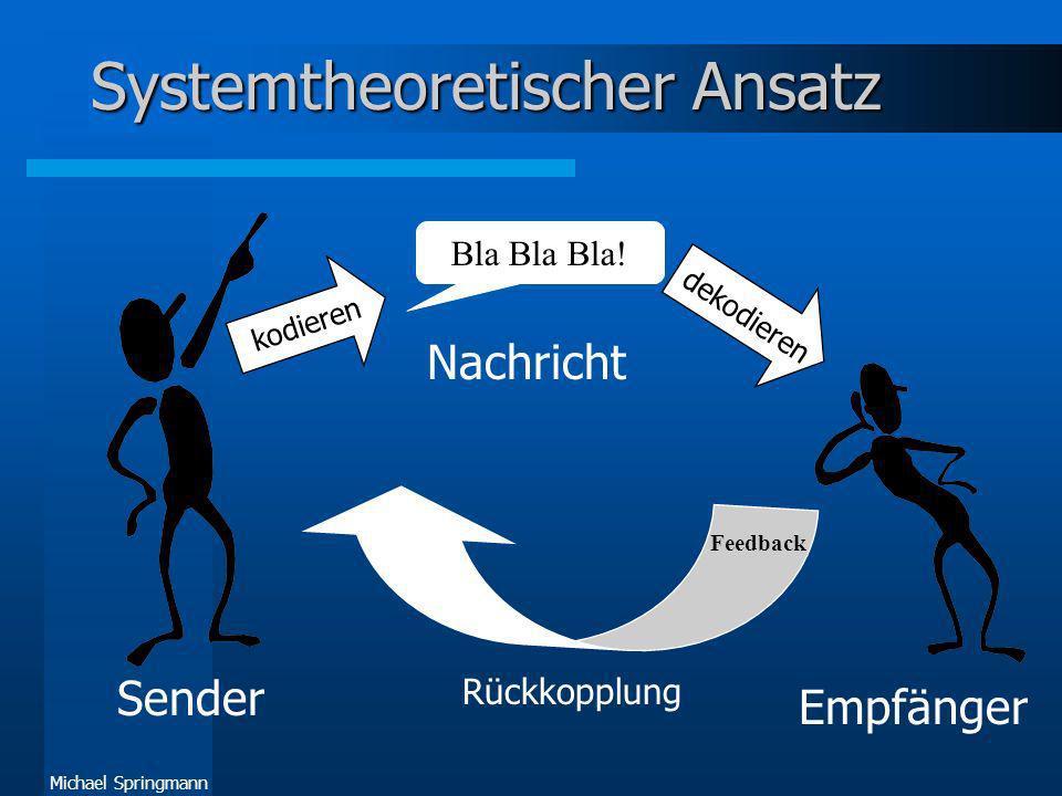 Systemtheoretischer Ansatz