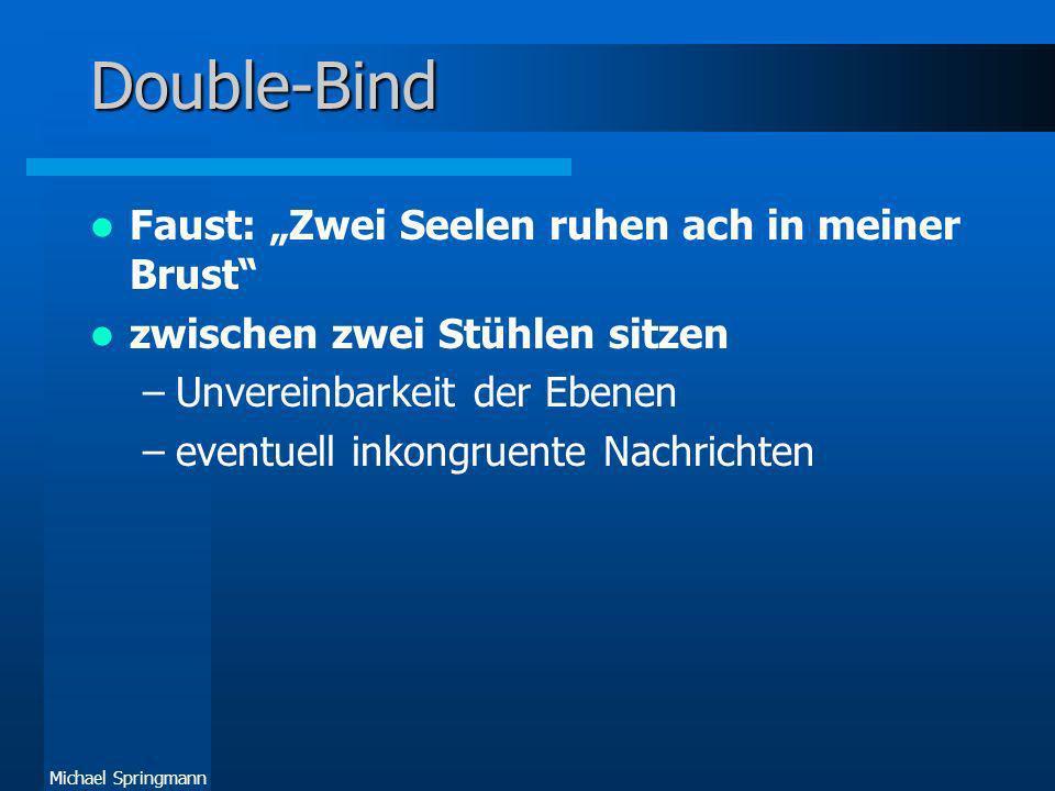 "Double-Bind Faust: ""Zwei Seelen ruhen ach in meiner Brust"