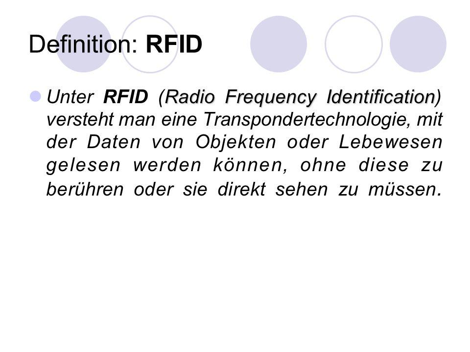 Definition: RFID