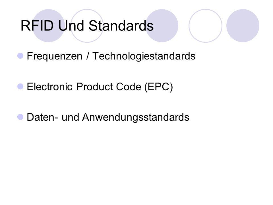 RFID Und Standards Frequenzen / Technologiestandards