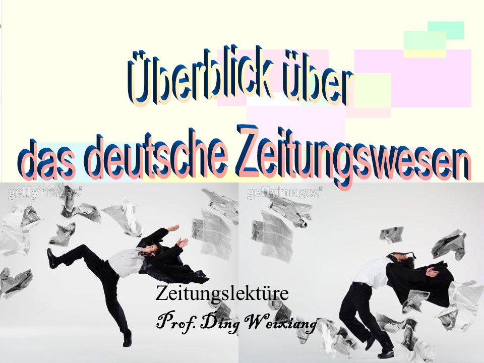 das deutsche Zeitungswesen