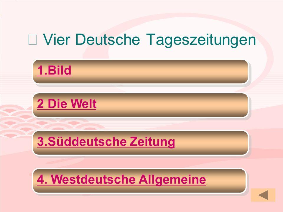 Ⅷ Vier Deutsche Tageszeitungen