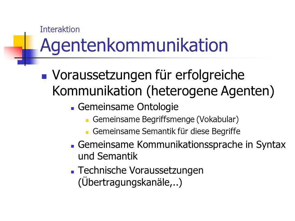 Interaktion Agentenkommunikation