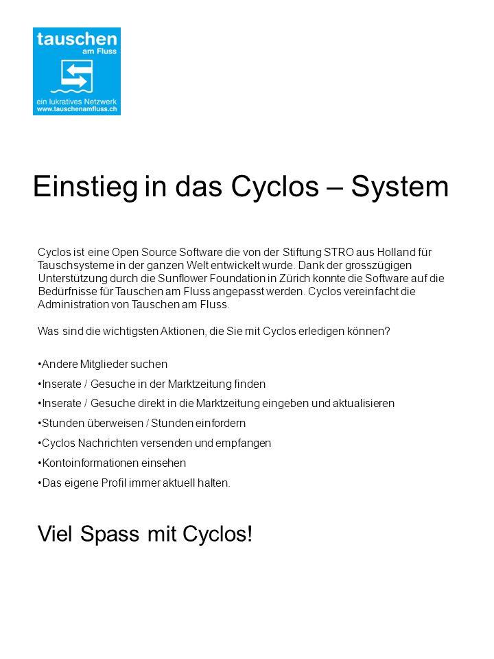Einstieg in das Cyclos – System