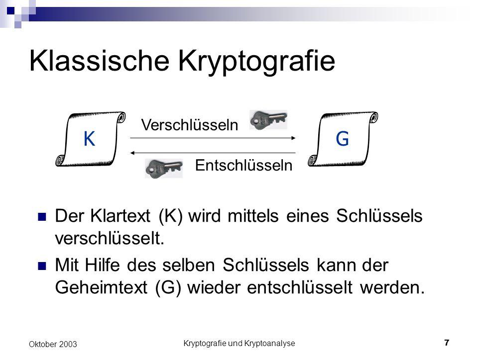 Klassische Kryptografie