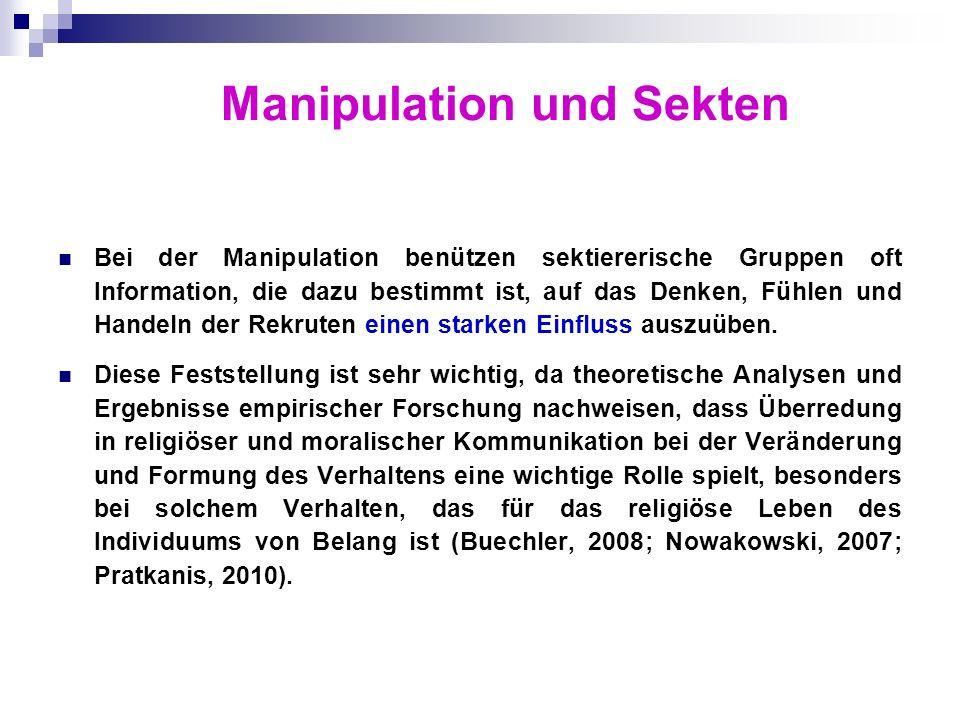 Manipulation und Sekten