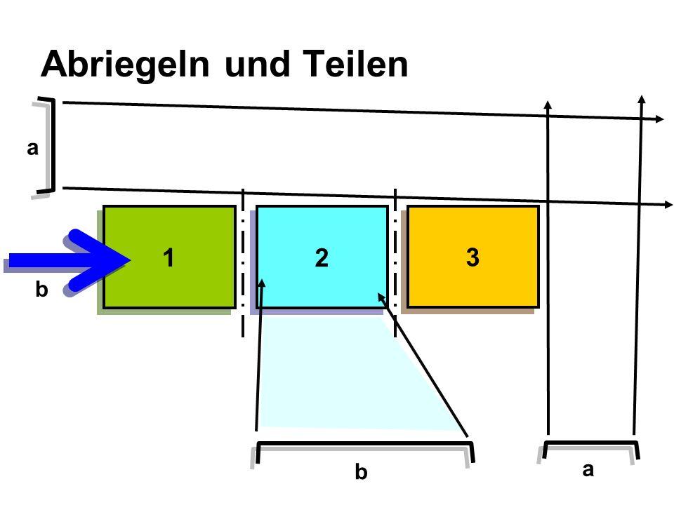 Abriegeln und Teilen a 1 2 3 b b