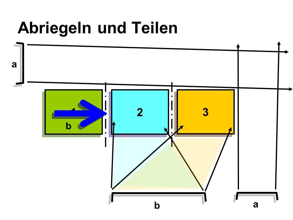 Abriegeln und Teilen a 1 2 3 b b a