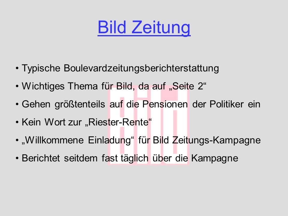Bild Zeitung Typische Boulevardzeitungsberichterstattung
