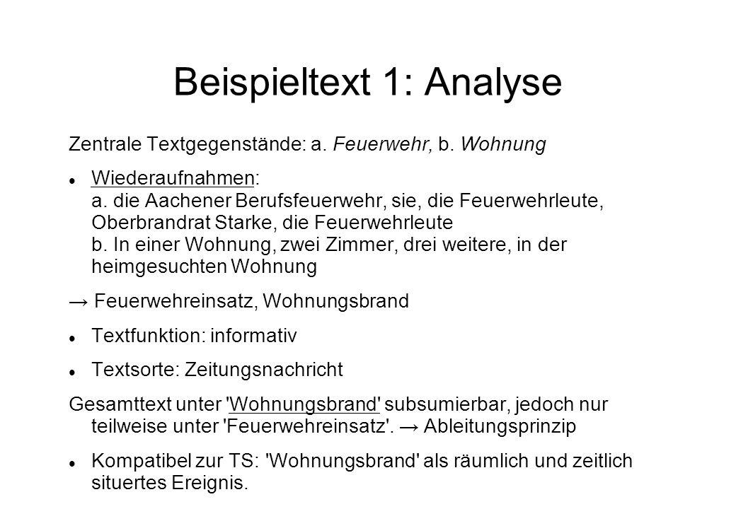 Beispieltext 1: Analyse