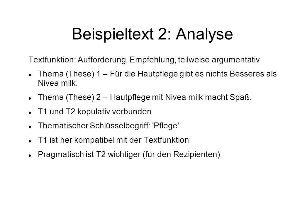 Beispieltext 2: Analyse