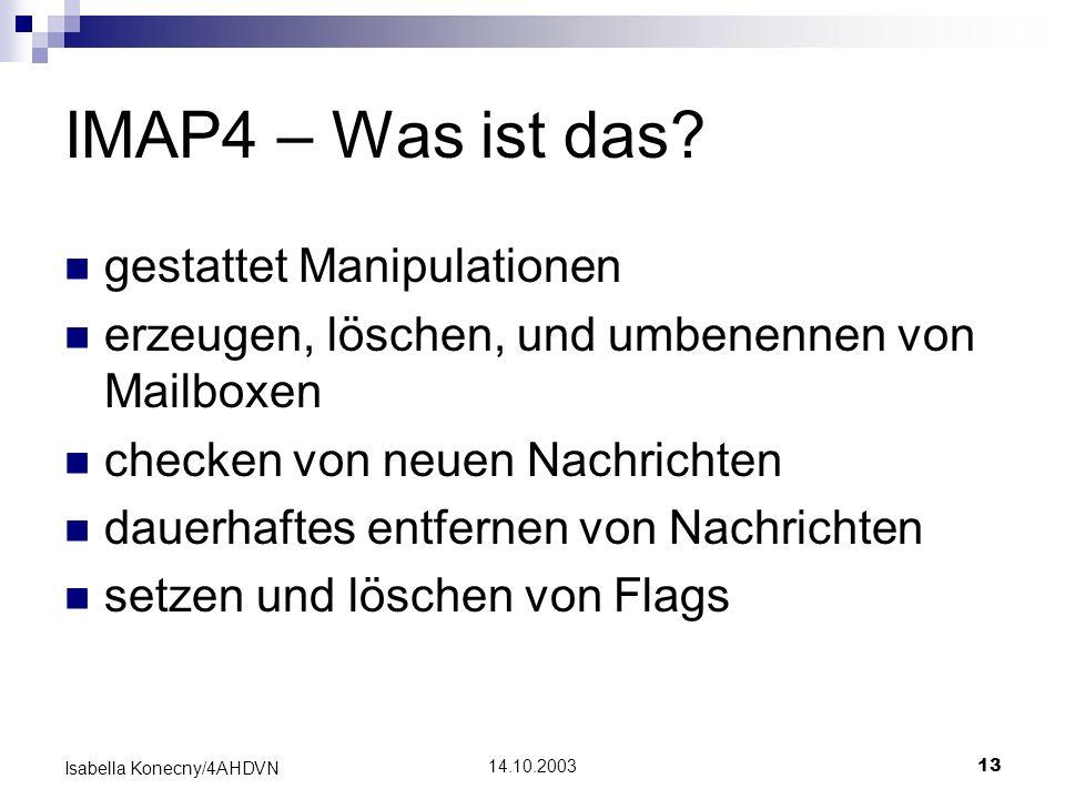 IMAP4 – Was ist das gestattet Manipulationen