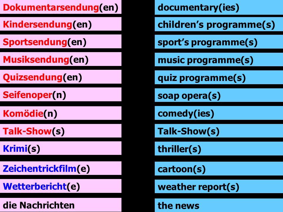children's programme(s)