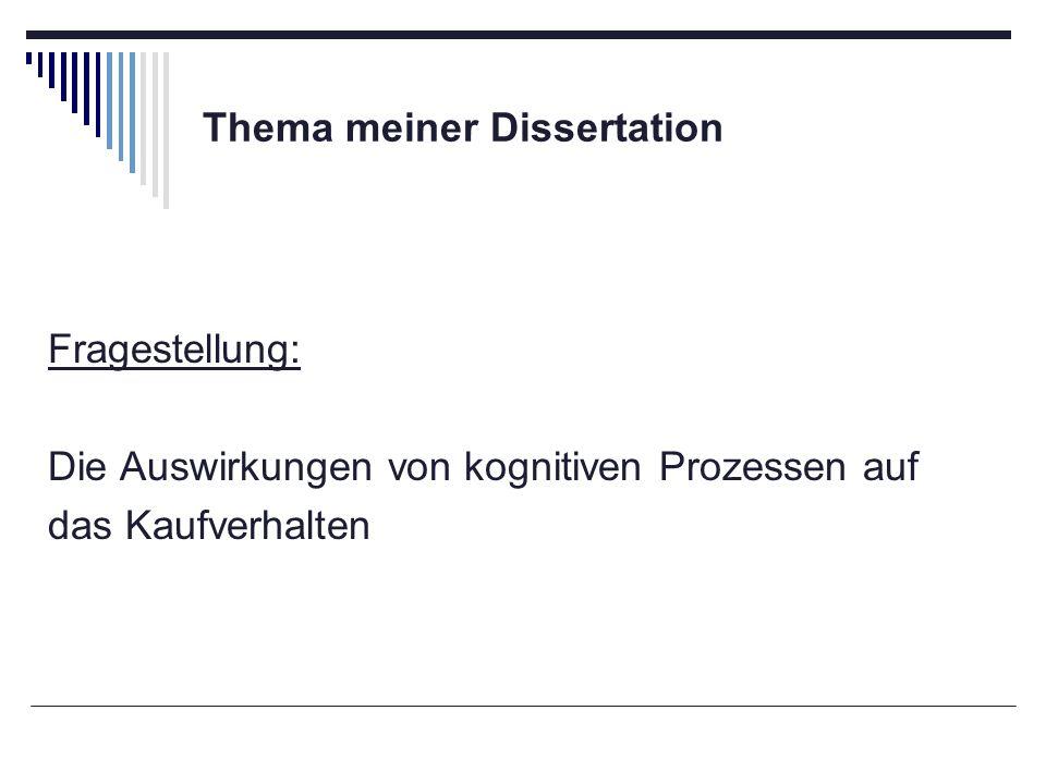 Thema meiner Dissertation
