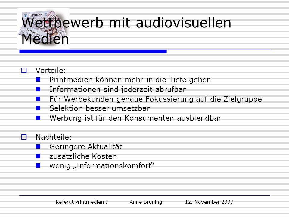 Wettbewerb mit audiovisuellen Medien
