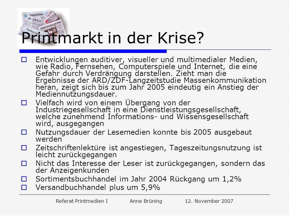 Printmarkt in der Krise