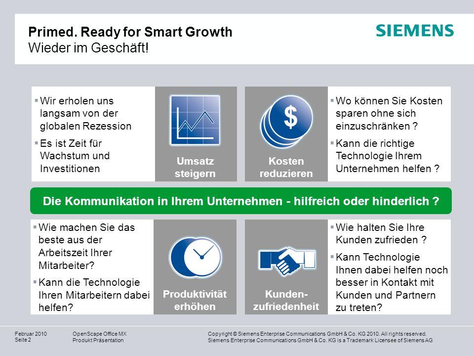 Primed. Ready for Smart Growth Wieder im Geschäft!