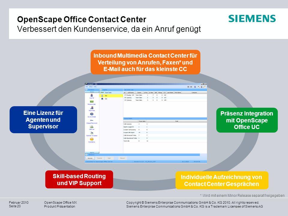 OpenScape Office Contact Center Verbessert den Kundenservice, da ein Anruf genügt