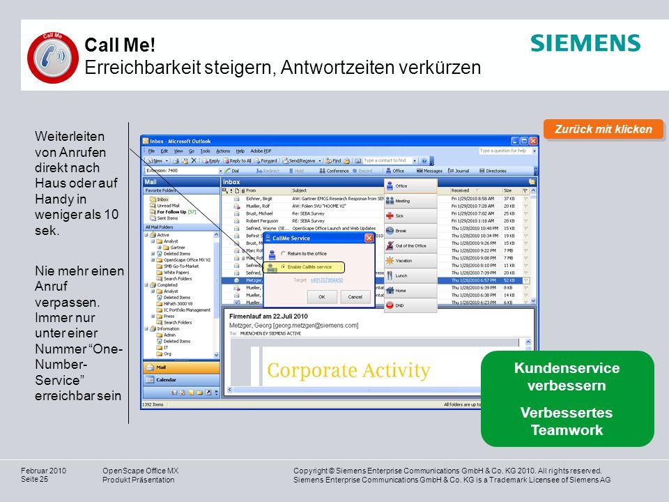 Call Me! Erreichbarkeit steigern, Antwortzeiten verkürzen
