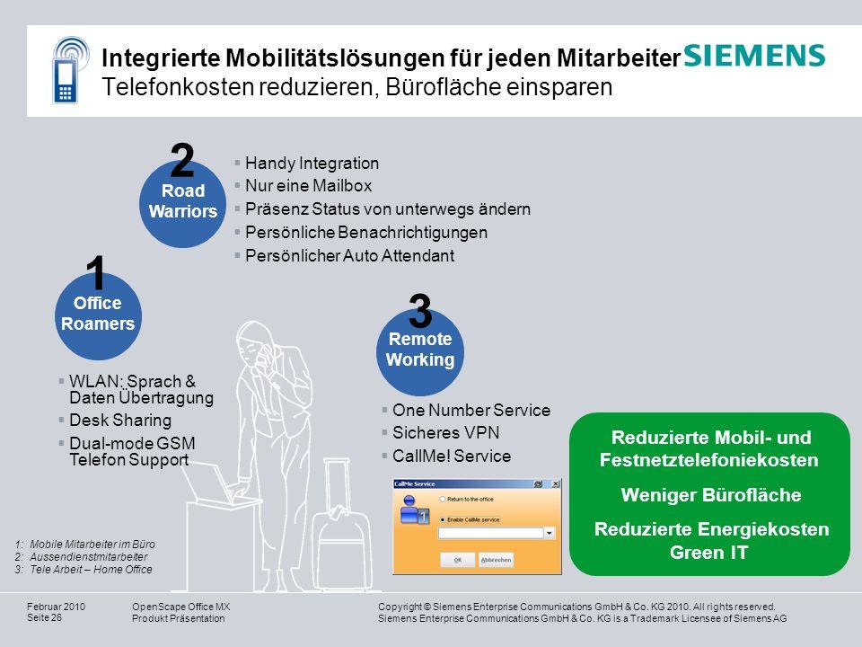 Integrierte Mobilitätslösungen für jeden Mitarbeiter Telefonkosten reduzieren, Bürofläche einsparen