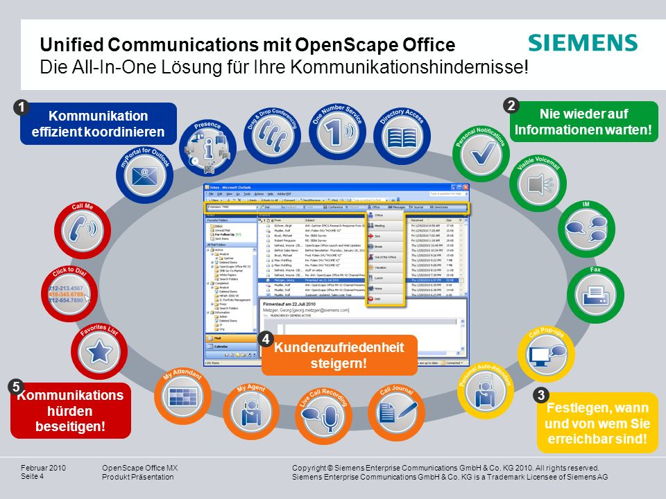 Unified Communications mit OpenScape Office Die All-In-One Lösung für Ihre Kommunikationshindernisse!