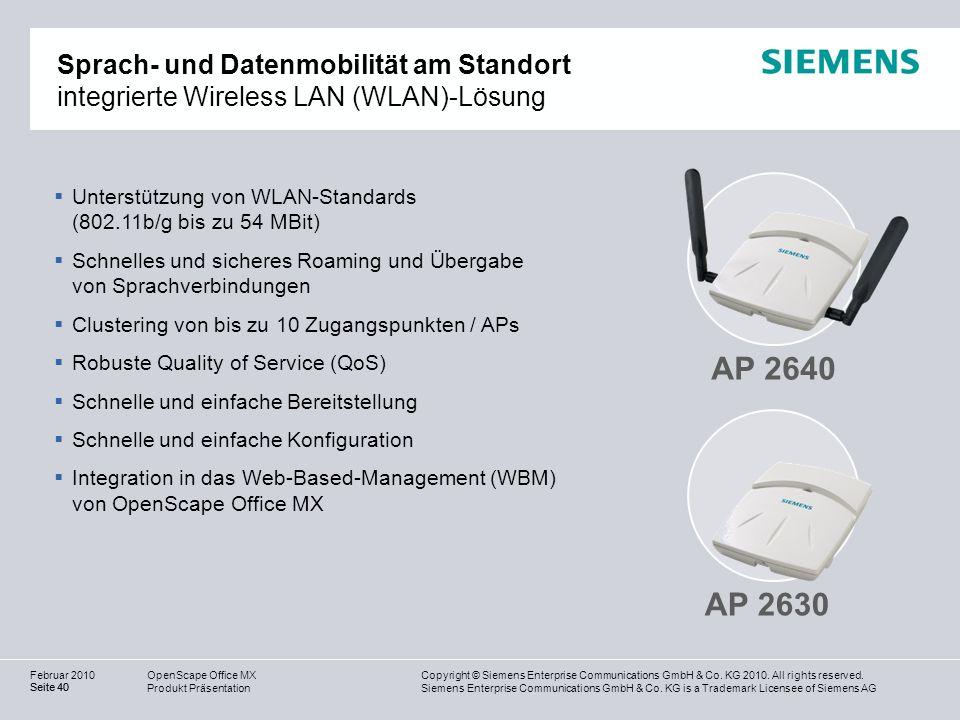 Sprach- und Datenmobilität am Standort integrierte Wireless LAN (WLAN)-Lösung