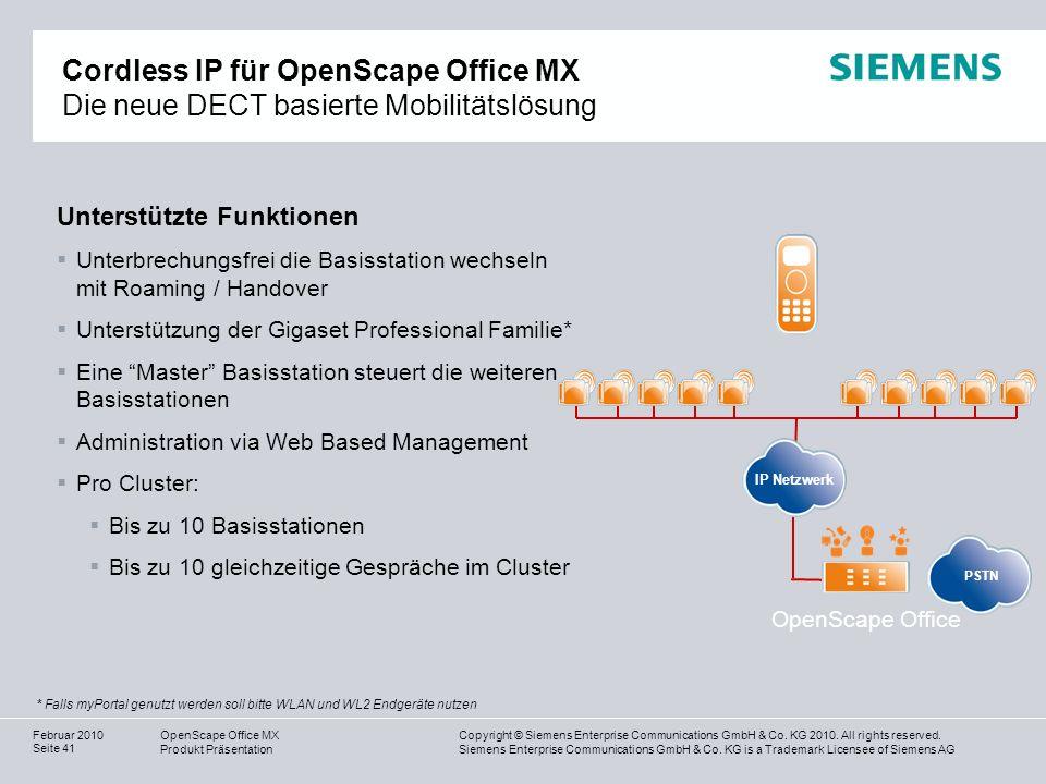 Cordless IP für OpenScape Office MX Die neue DECT basierte Mobilitätslösung