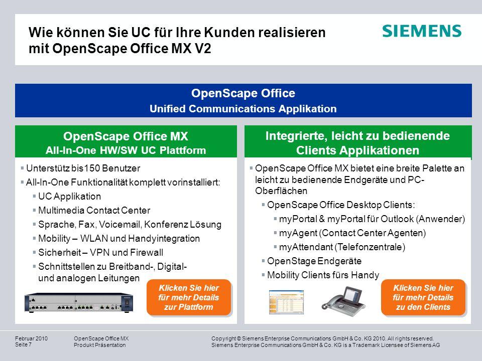 Wie können Sie UC für Ihre Kunden realisieren mit OpenScape Office MX V2