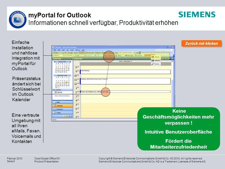 myPortal for Outlook Informationen schnell verfügbar, Produktivität erhöhen