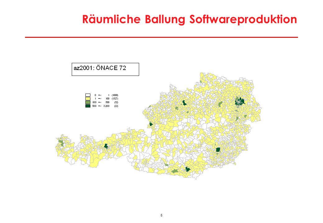 Räumliche Ballung Softwareproduktion