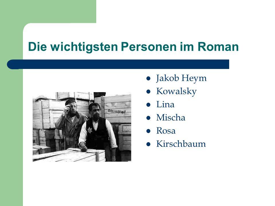 Die wichtigsten Personen im Roman