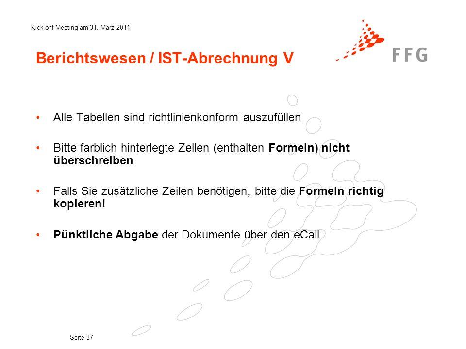 Berichtswesen / IST-Abrechnung V