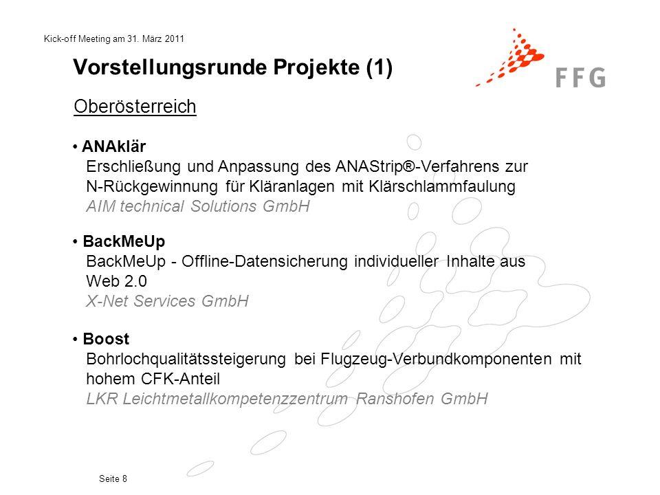 Vorstellungsrunde Projekte (1)