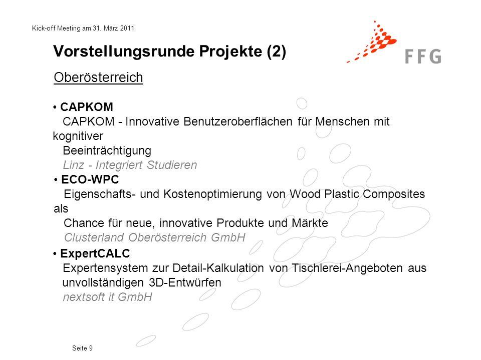 Vorstellungsrunde Projekte (2)
