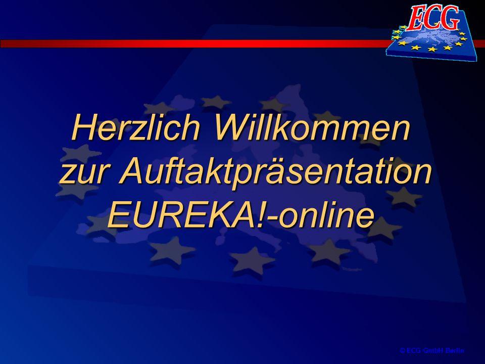 Herzlich Willkommen zur Auftaktpräsentation EUREKA!-online