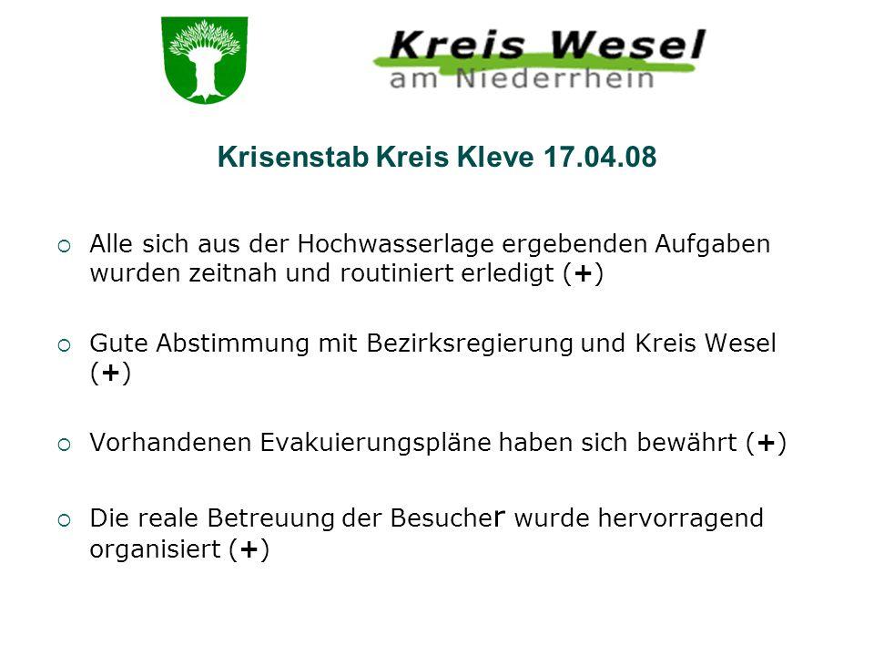 Krisenstab Kreis Kleve 17.04.08