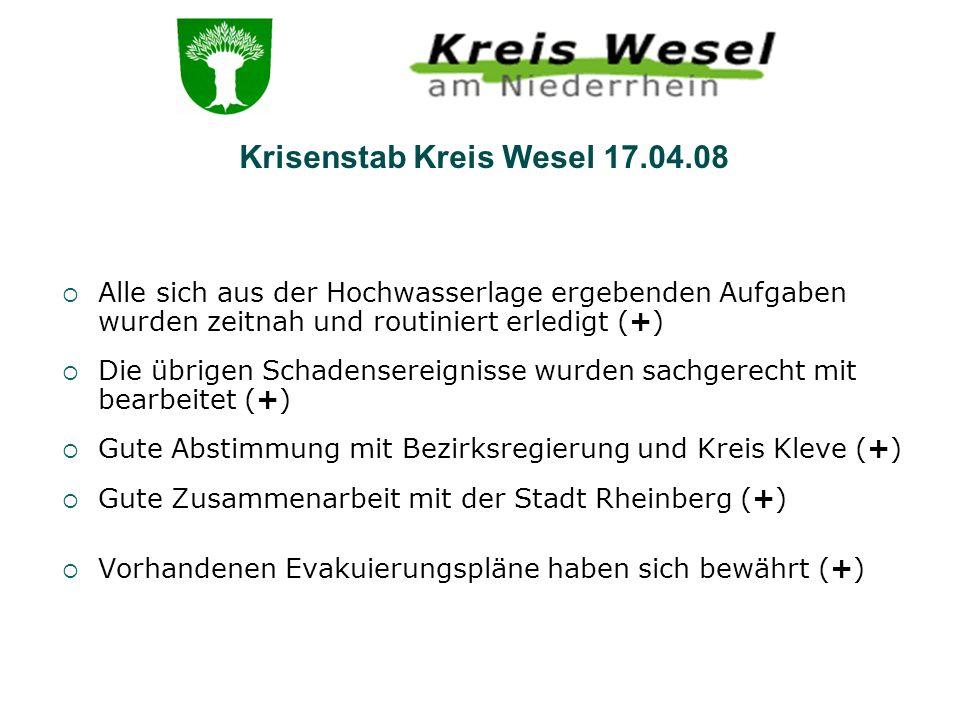 Krisenstab Kreis Wesel 17.04.08