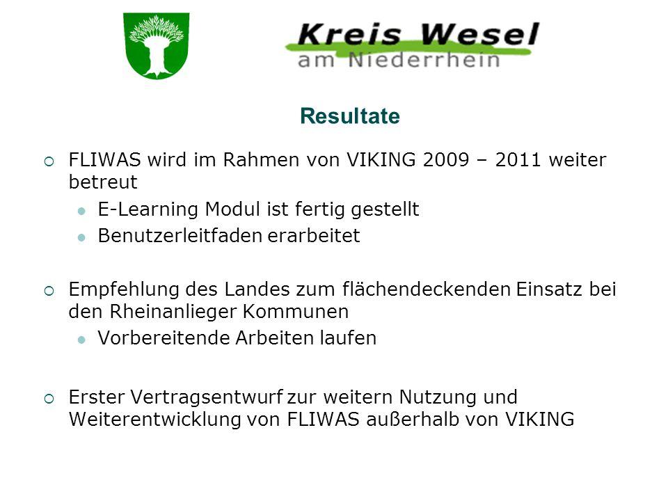 Resultate FLIWAS wird im Rahmen von VIKING 2009 – 2011 weiter betreut