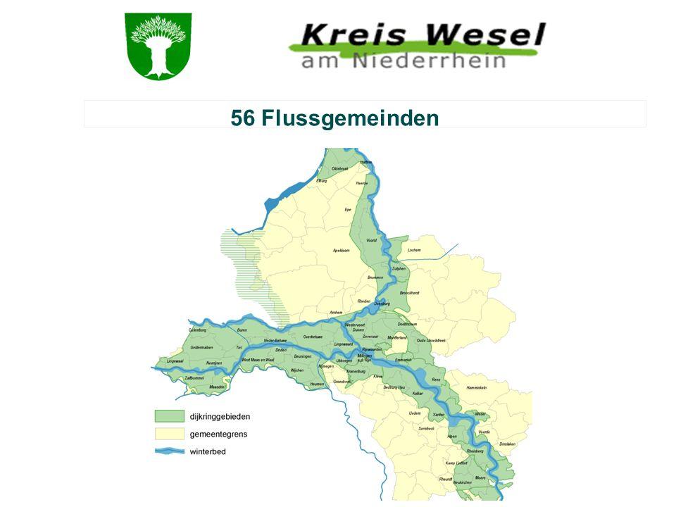 56 Flussgemeinden Riviergemeente