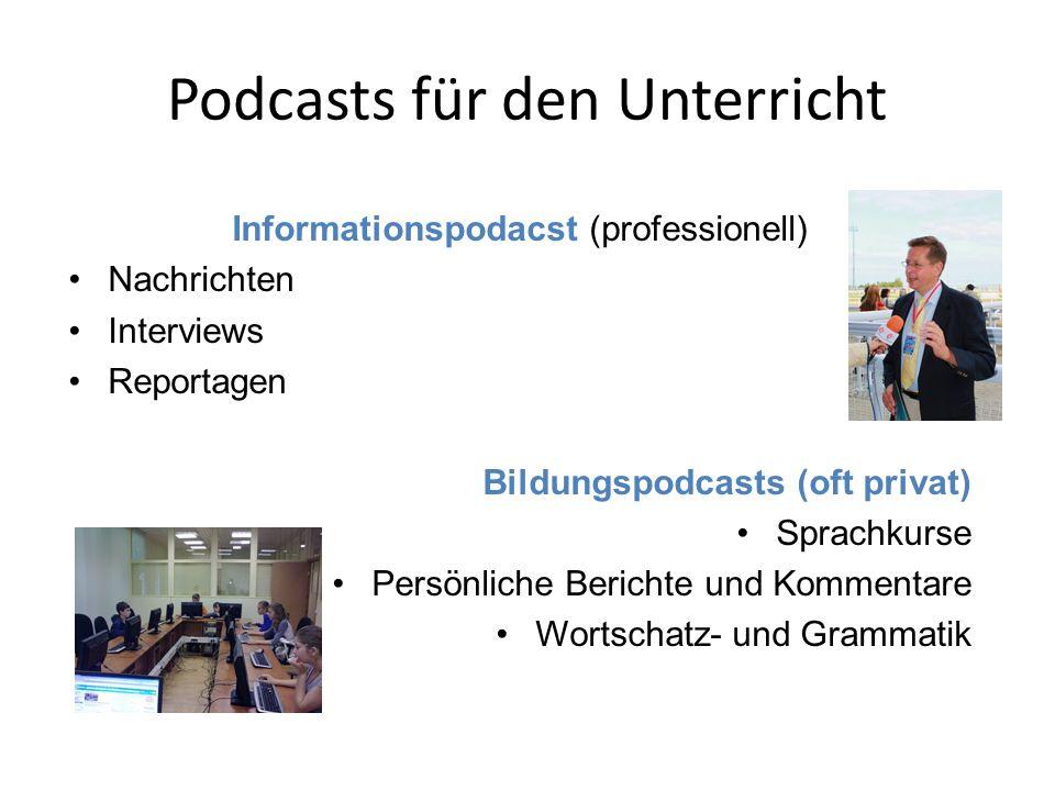 Podcasts für den Unterricht