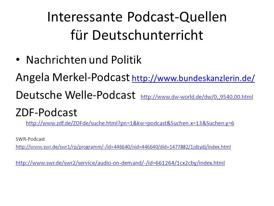 Interessante Podcast-Quellen für Deutschunterricht